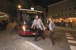 Silvester 2016/2017: Mehr Busse und Bahnen im Einsatz  Bildnachweis: Salzburg AG / Abdruck honorarfrei!