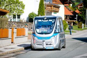 Selbstfahrender Minibus, Koppl, Teststrecke, Salzburg Research, PK, 20170424, Salzburg, (c)wildbild