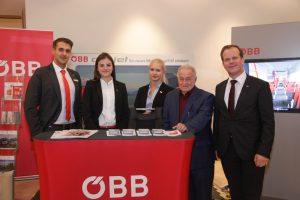 ÖBB-Team punktet schon beim Auftritt bei den 16. Salzburger Verkehrstagen.
