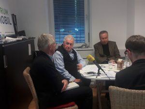 Von Links:  Winfried Herbst - Naturschutzbund Salzburg, Peter Haibach - Sprecher FORUM MOBIL, Karl Schambureck - Tourismus-Experte