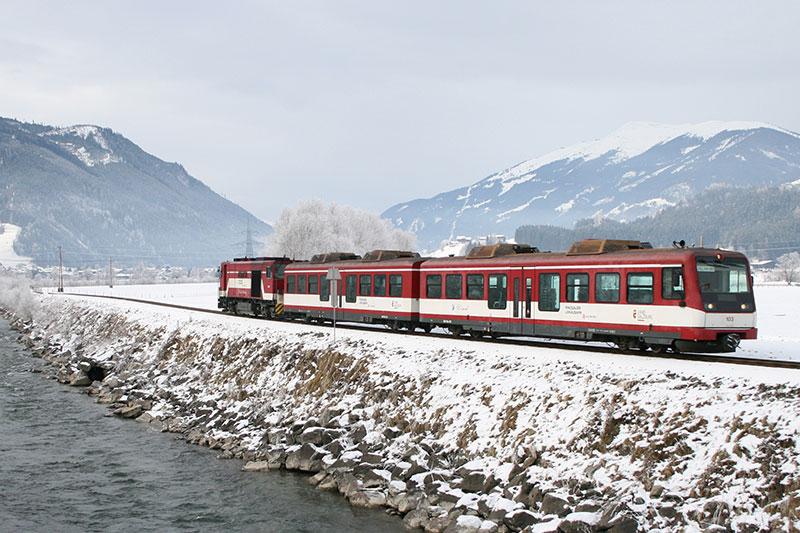 Ein Zug der Pinzgauer Lokalbahn